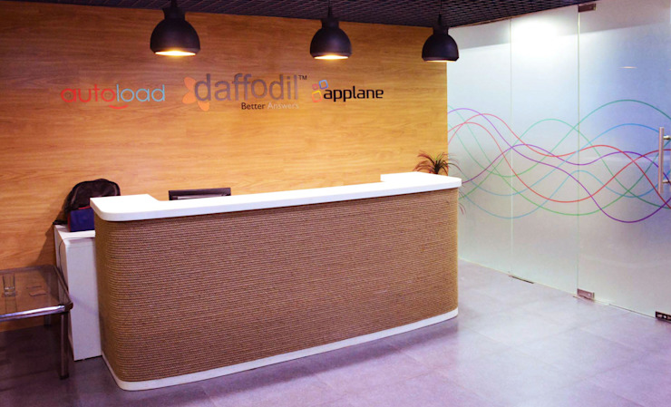 The main reception area by Horizon Design Studio Pvt Ltd