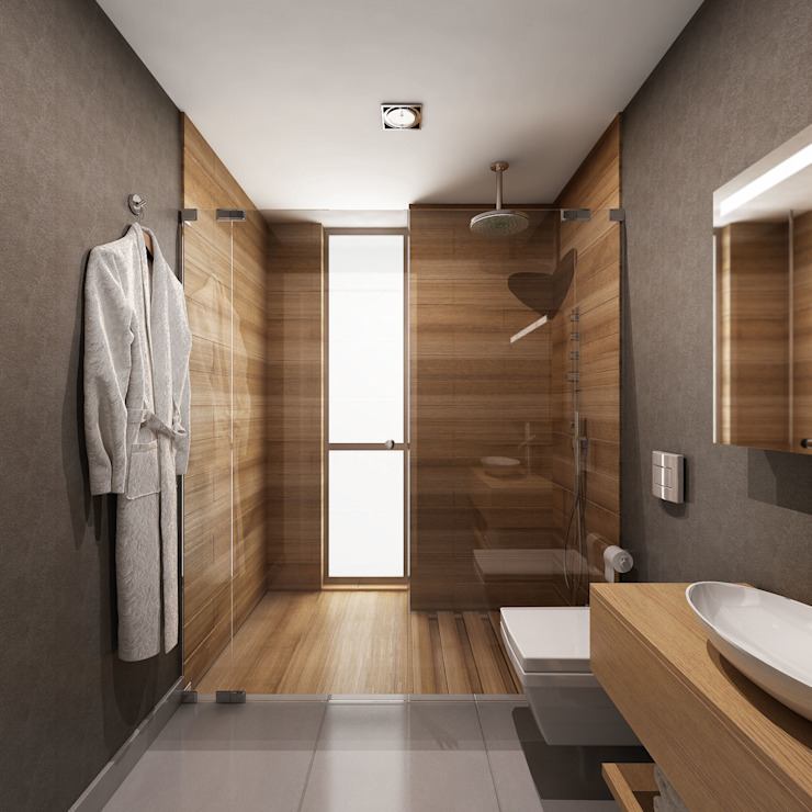 homify Modern bathroom