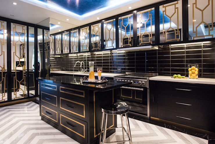 Maximalist Modern Modern kitchen by Design Intervention Modern