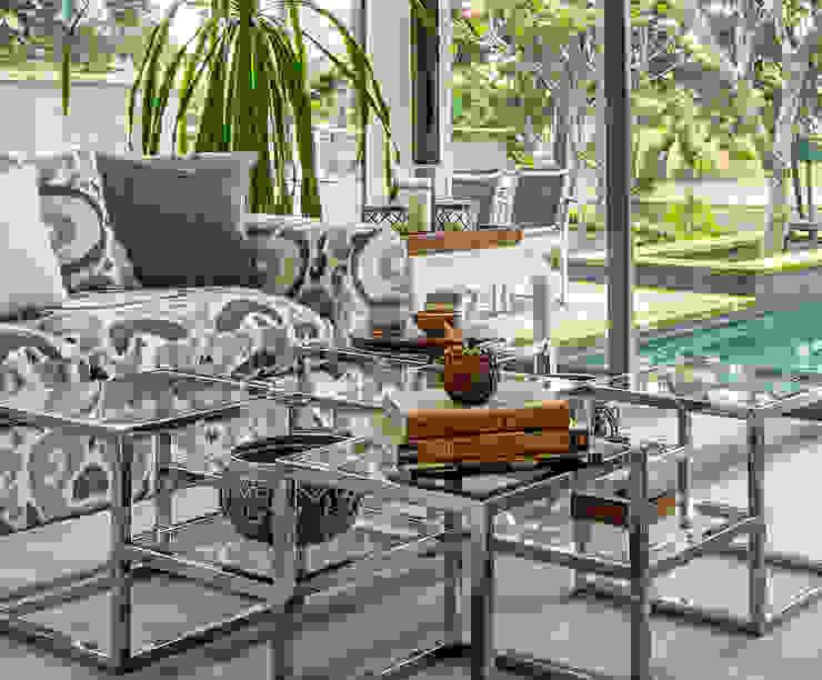 Sentosa Beach House Scandinavian style living room by Design Intervention Scandinavian