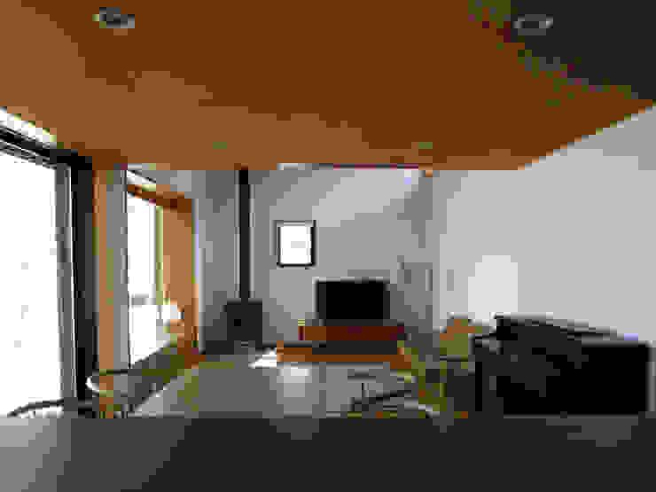 キッチンから食堂・居間を見る オリジナルデザインの ダイニング の 早田雄次郎建築設計事務所/Yujiro Hayata Architect & Associates オリジナル