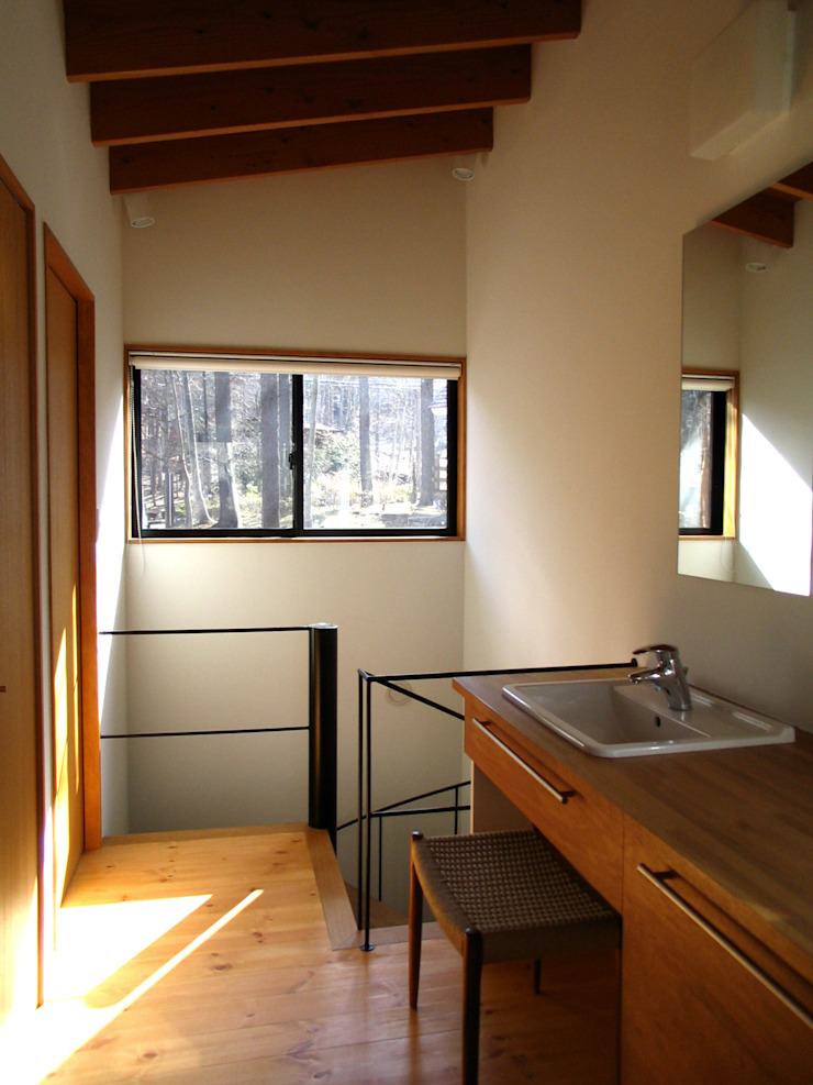 廊下兼洗面スペース オリジナルスタイルの お風呂 の 早田雄次郎建築設計事務所/Yujiro Hayata Architect & Associates オリジナル