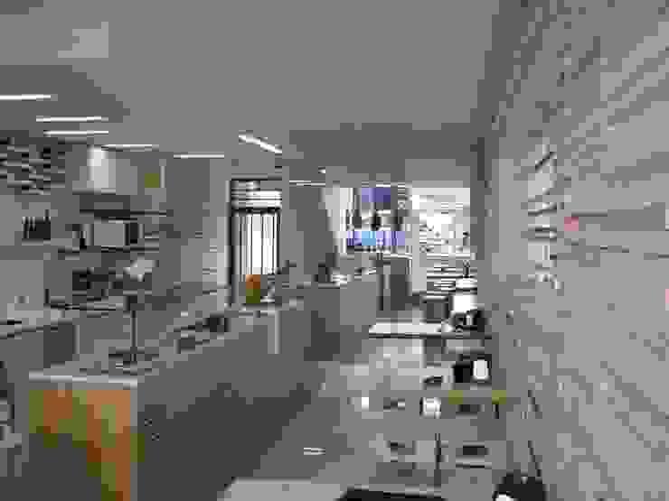Espaço comercial por Aurora Fernandes e Helena Alves - Arquitectas Associadas Lda. Moderno