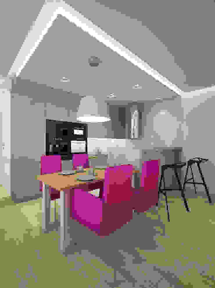 Apartament, pow. 95 m2, Waterlane Eklektyczna jadalnia od 3miasto design Eklektyczny