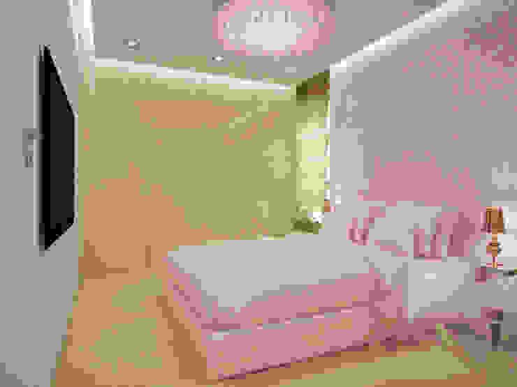 Apartament, pow. 95 m2, Waterlane Eklektyczna sypialnia od 3miasto design Eklektyczny