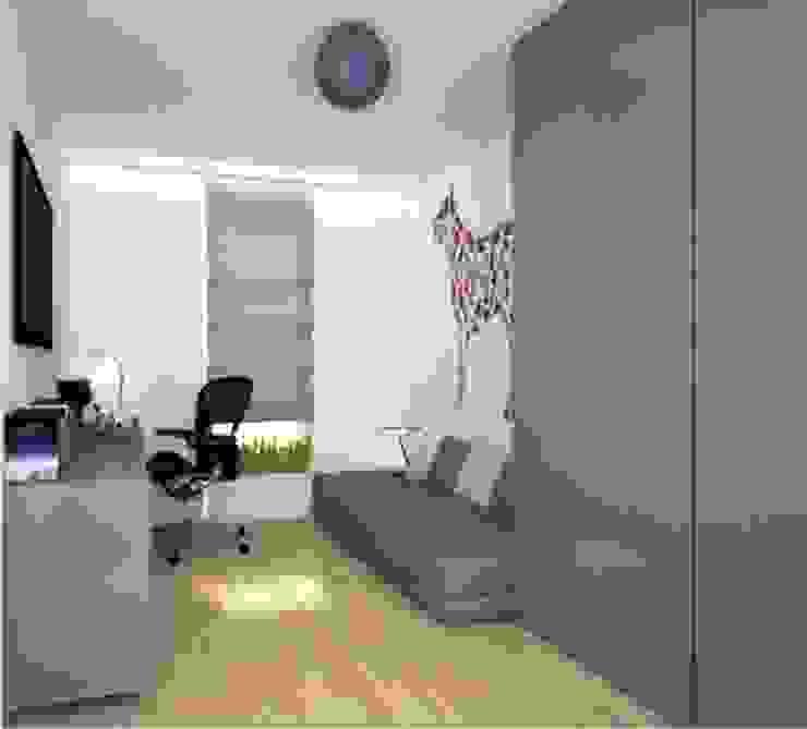 Apartament, pow. 95 m2, Waterlane Eklektyczne domowe biuro i gabinet od 3miasto design Eklektyczny