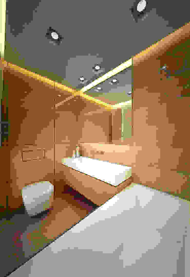 Apartament, pow. 95 m2, Waterlane Eklektyczna łazienka od 3miasto design Eklektyczny