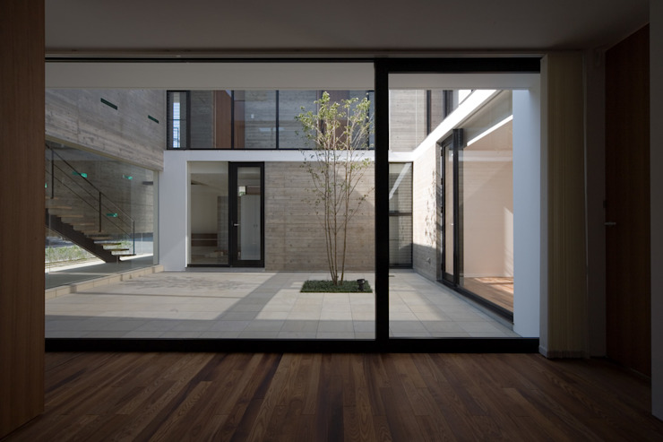 KaleidoscopeⅠ モダンな庭 の 澤村昌彦建築設計事務所 モダン 石