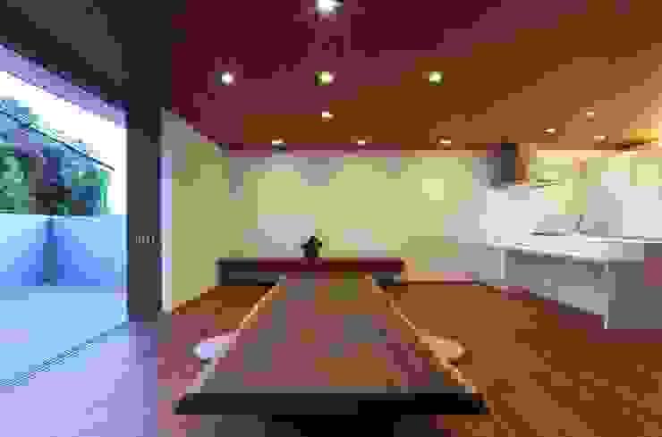 澤村昌彦建築設計事務所 Ruang Keluarga Gaya Asia