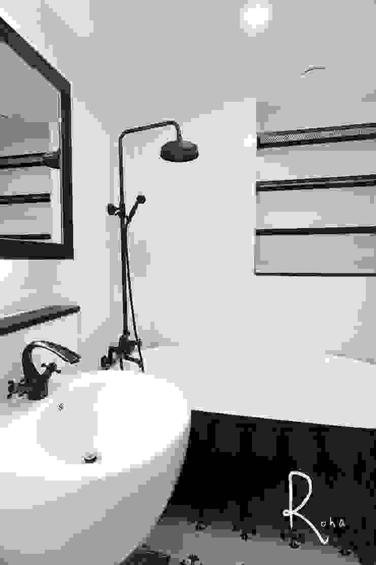 거실 욕실 스칸디나비아 욕실 by 로하디자인 북유럽