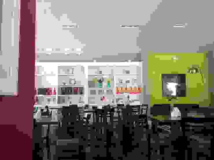 Restaurante Jardim Espaços gastronômicos modernos por ANALU ANDRADE - ARQUITETURA E DESIGN Moderno