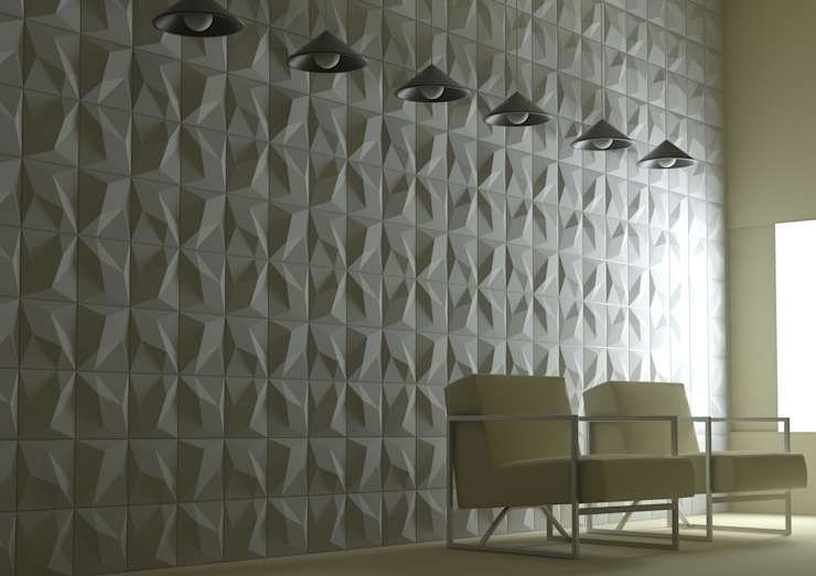 Panelado Facetado Blanco Cordoba CreativeHeritage Hoteles de estilo moderno