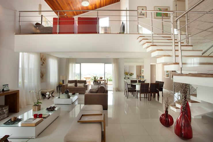 Habitat arquitetura Salas de estilo moderno