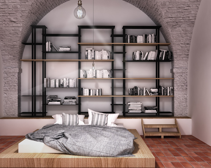 Industrial style bedroom by homify Industrial Iron/Steel