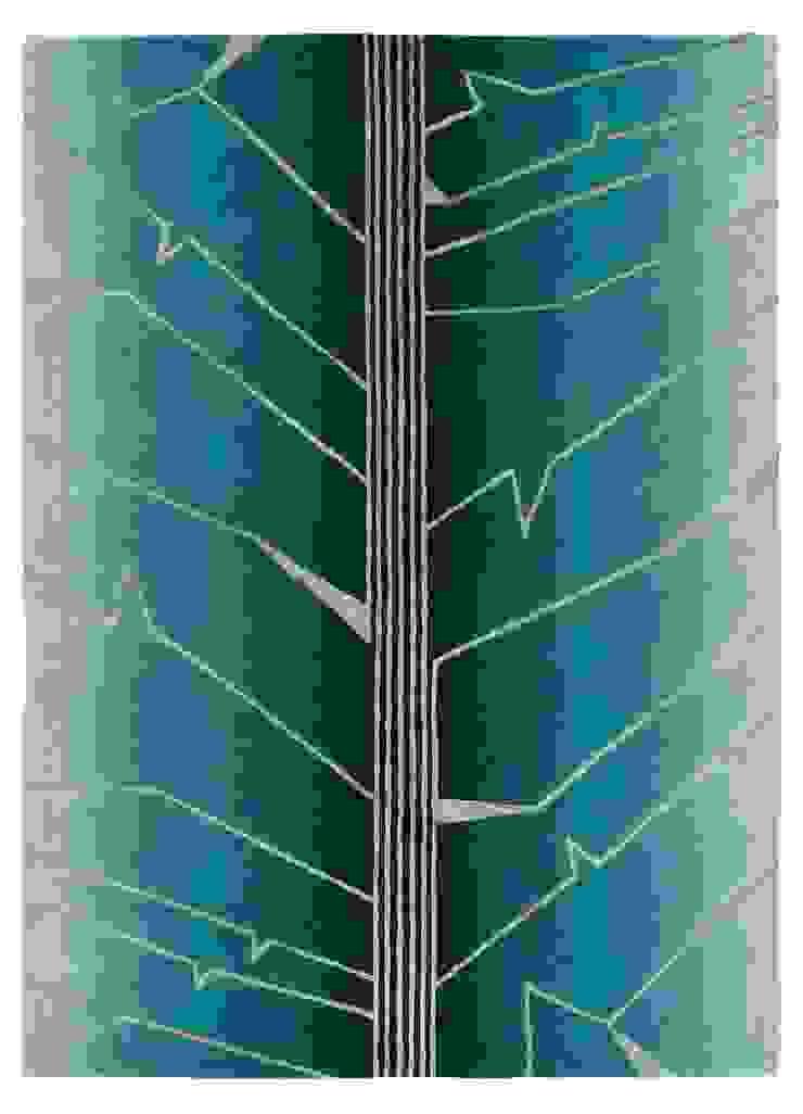 Deirdre Dyson FRACTURE hand knotted wool & silk rug Deirdre Dyson Carpets Ltd Walls & flooringCarpets & rugs Wool Green