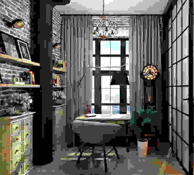 Лофт 17 Рабочий кабинет в стиле лофт от Александра Клямурис Лофт