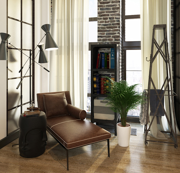 Industrial style study/office by Александра Клямурис Industrial