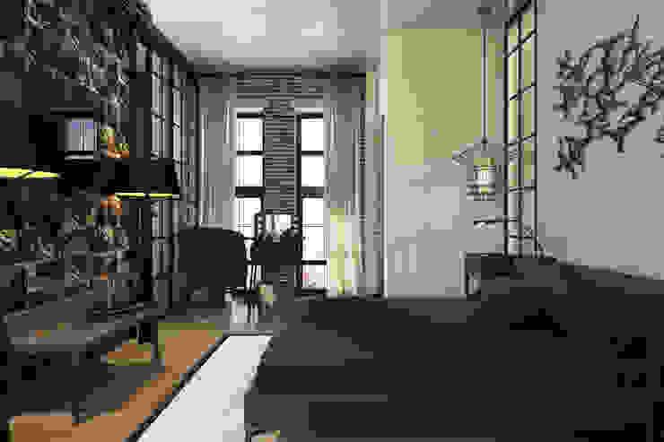 Camera da letto in stile industriale di Александра Клямурис Industrial