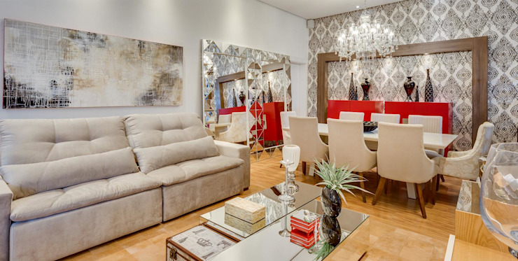 Livings de estilo moderno de Ideatto Móveis e Decorações Moderno