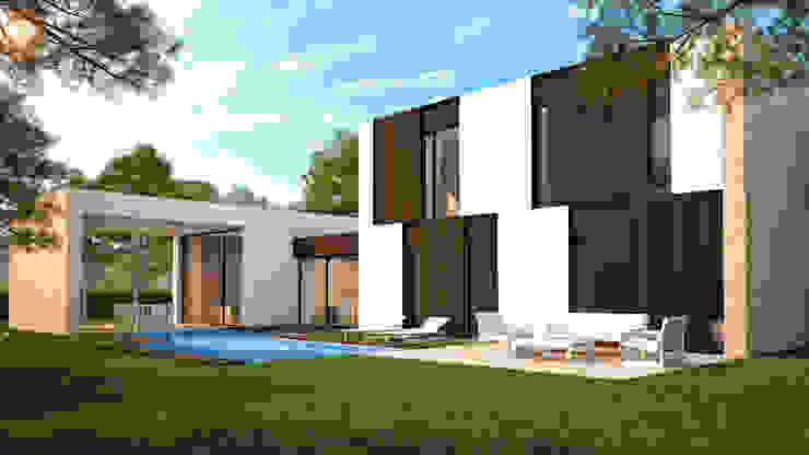Villa Beatriz Casas de estilo escandinavo de homify Escandinavo Piedra