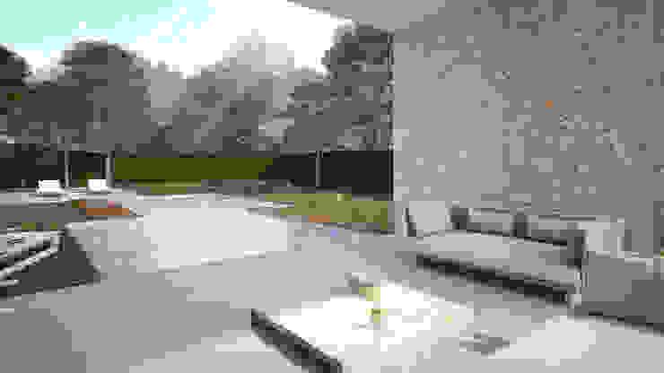 Terraza Villa Beatriz Balcones y terrazas de estilo escandinavo de homify Escandinavo Piedra