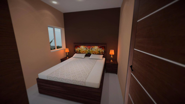 Apartment Modern style bedroom by ARY Studios Modern