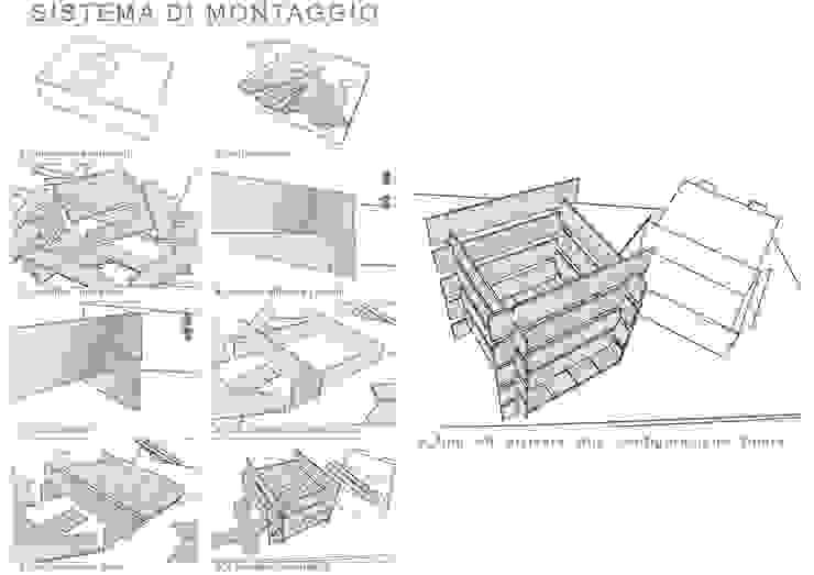 Sistema di montaggio di Daniele Piazzola architetto e designer a Como Moderno