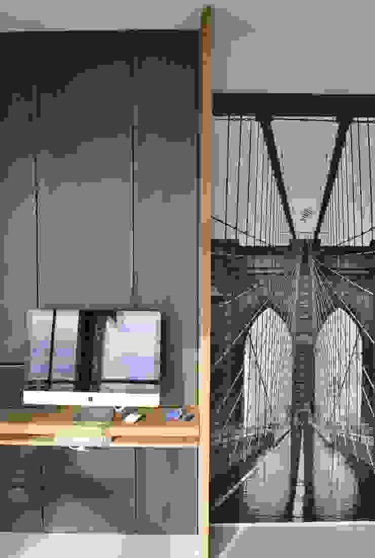 Depto DLH Livings modernos: Ideas, imágenes y decoración de T + T Arquitectos Moderno