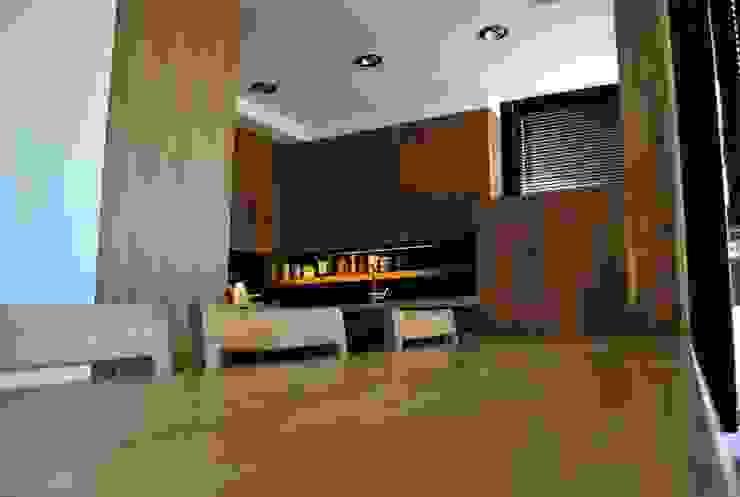T + T Arquitectos Salones de estilo moderno