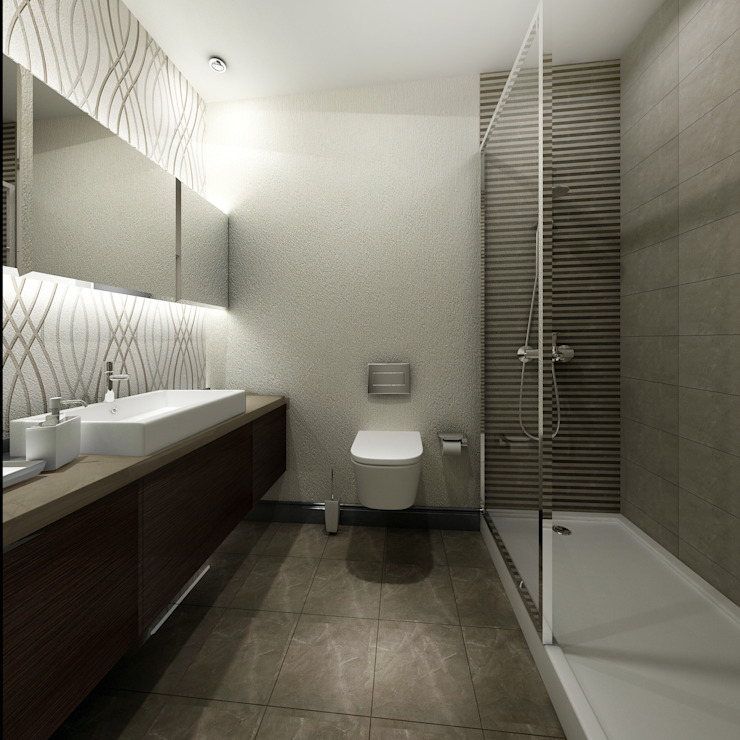 Gold Towers Konut Modern Banyo Treso İç Mimarlık Modern