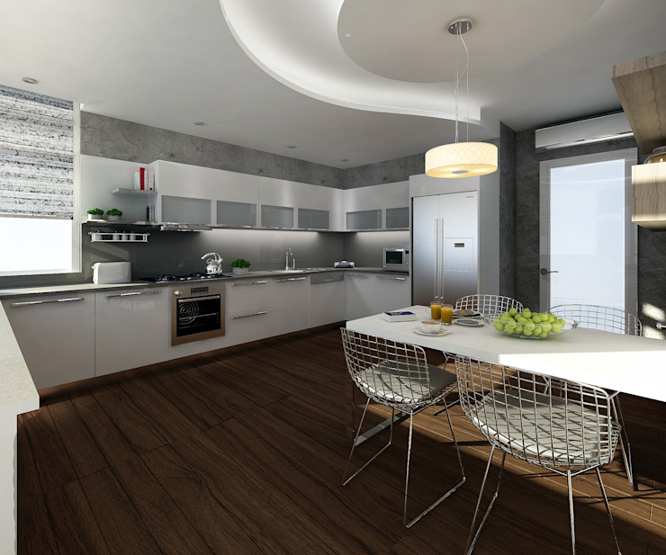 Gold Towers Konut Modern Mutfak Treso İç Mimarlık Modern