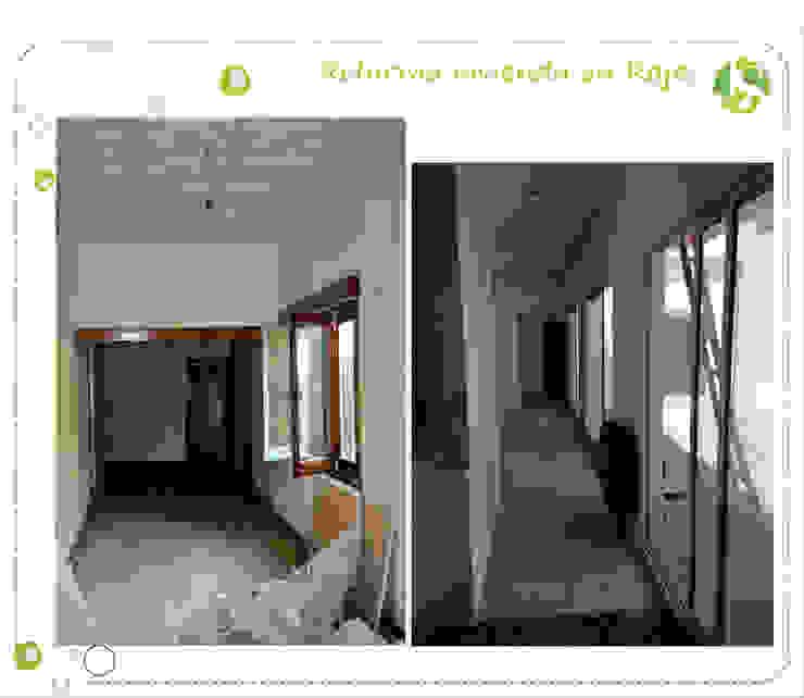 Pasillos y recibidores de estilo  por Jimena Serradell, Colonial