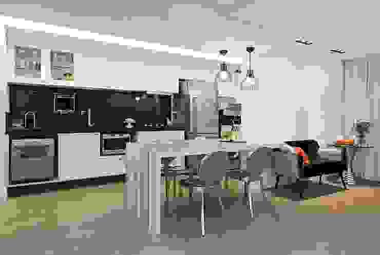 Apartamento Celebrity Cozinhas modernas por carolina lisot arquitetura Moderno