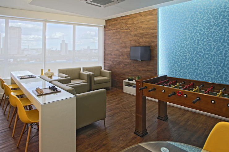 Sala de descanso Edifícios comerciais modernos por Orizam Arquitetura + Design Moderno