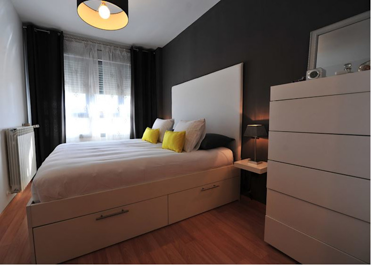 Vivienda para joven independiente afg interiores Dormitorios de estilo moderno