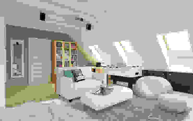 PRZYTULNY DOM NA WZGÓRZU Śródziemnomorska sypialnia od malee Śródziemnomorski