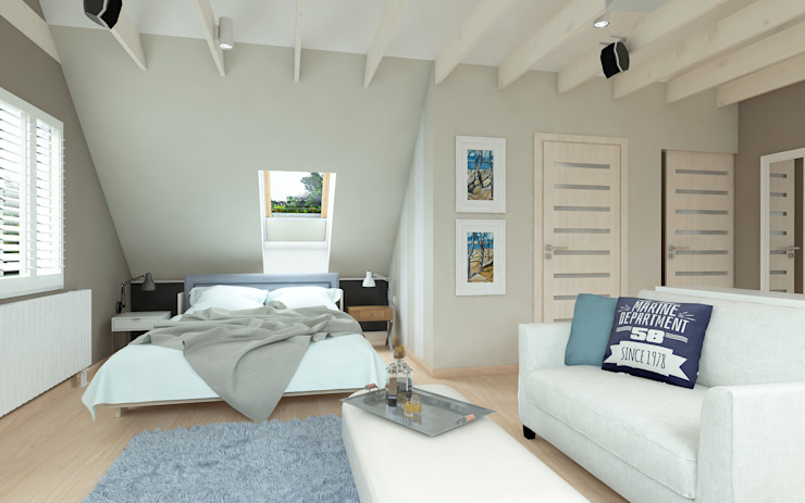Mediterranean style bedroom by malee Mediterranean