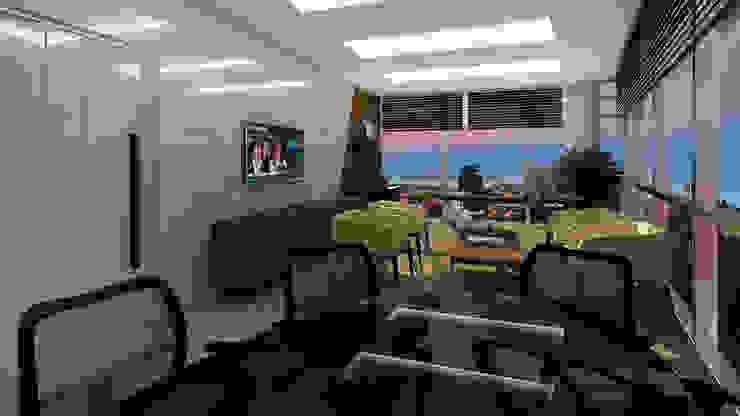 Gold Towers Ofis Modern Çalışma Odası Treso İç Mimarlık Modern