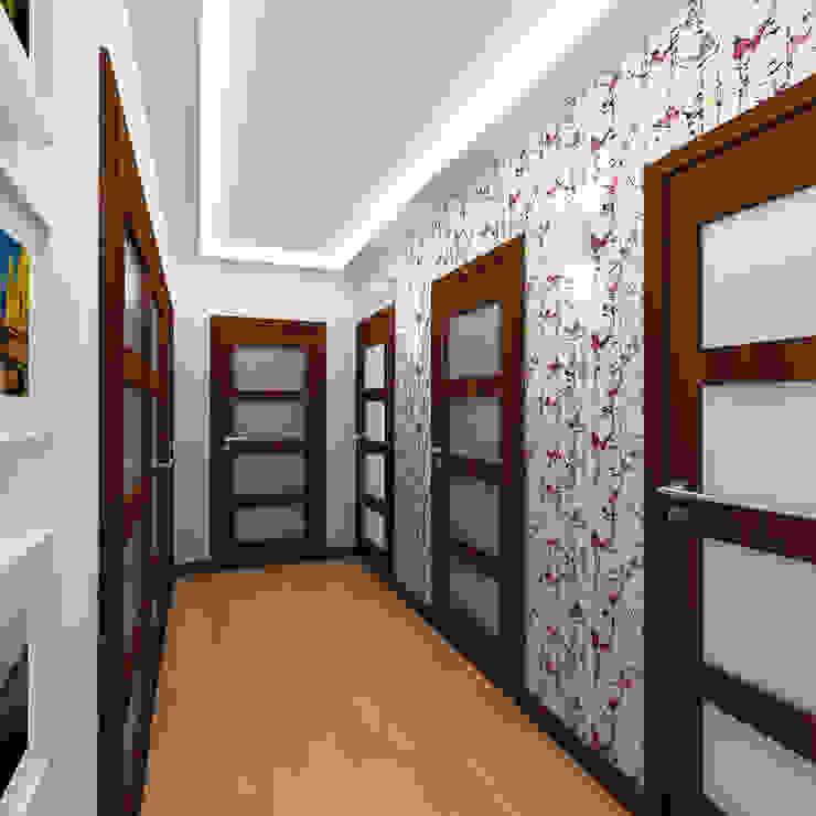 PRZYTULNY DOM NA WZGÓRZU Klasyczny korytarz, przedpokój i schody od malee Klasyczny