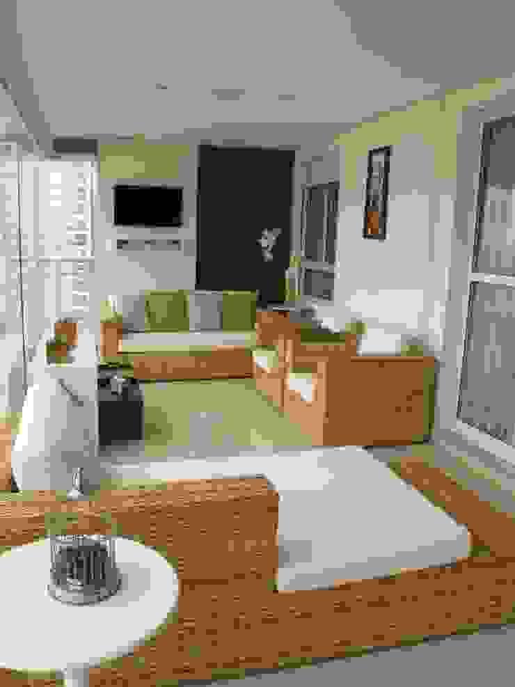Residencia / Apartamento Varandas, alpendres e terraços modernos por Andrea Vasconcelos Arquitetura e Design Moderno