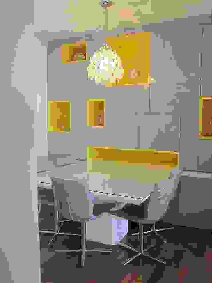Residencia / Apartamento Salas de jantar modernas por Andrea Vasconcelos Arquitetura e Design Moderno