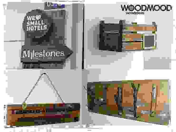 We love Small Hotels por WoodMood Rústico
