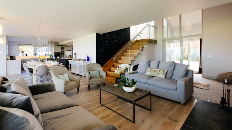 Projekty,  Salon zaprojektowane przez Perfect Stays, Nowoczesny
