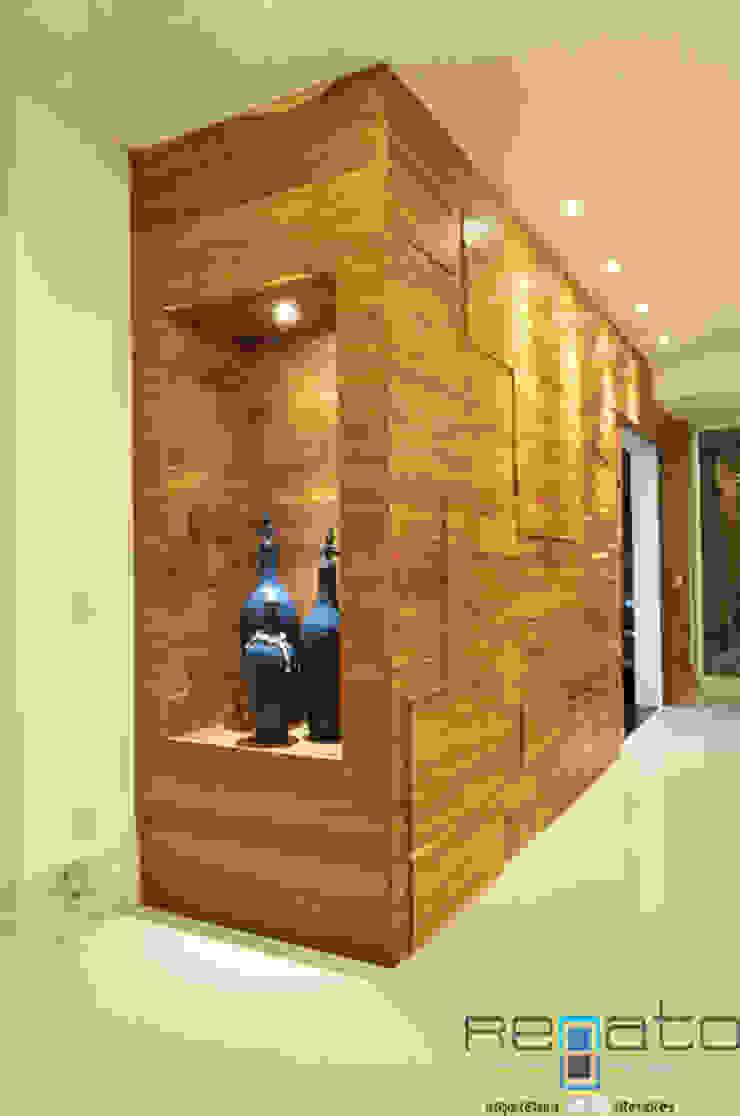 Residência C.M Renato Souza Arquitetura Corredores, halls e escadas modernos