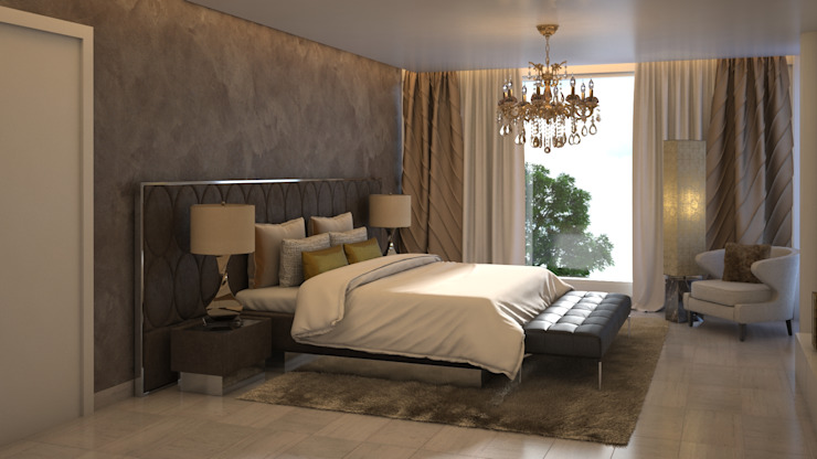 Gabriela Afonso Modern Bedroom Concrete Brown