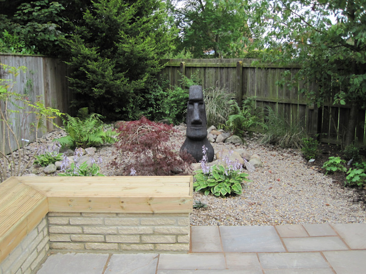 Focal point at seating area de Mike Bradley Garden Design