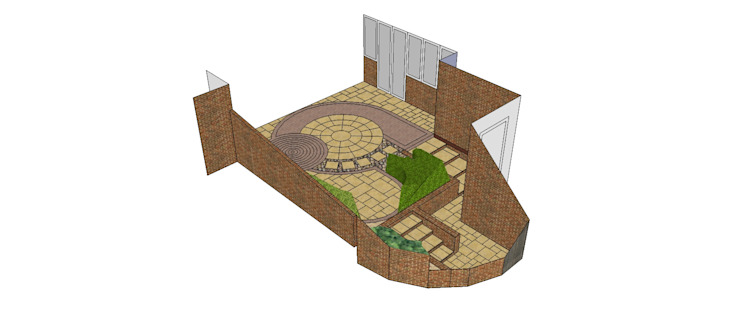 Sketchup proposal for client por Mike Bradley Garden Design