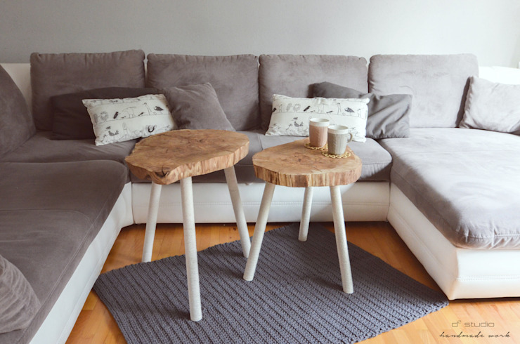 Set Coffee Tables MUKY van D2 Studio Scandinavisch Hout Hout