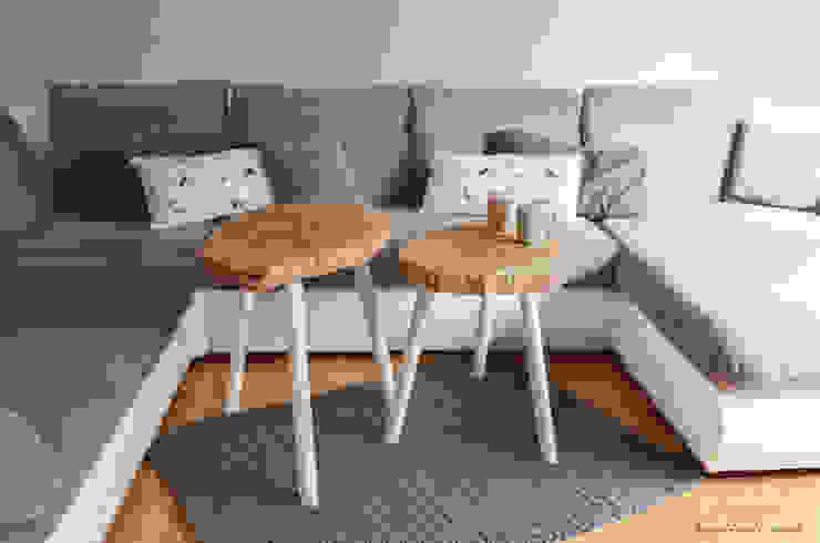 Set Coffee Tables MUKY por D2 Studio Escandinavo Madeira Acabamento em madeira