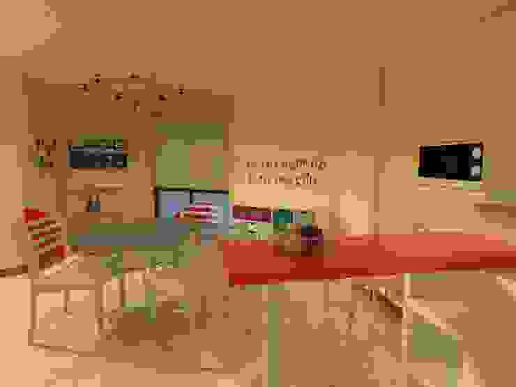 Dpto. Nueva Córdoba - Propuestas de Equipamientos (Cocina/Living/Comedor) de ER Design. @eugeriveraERdesign Moderno